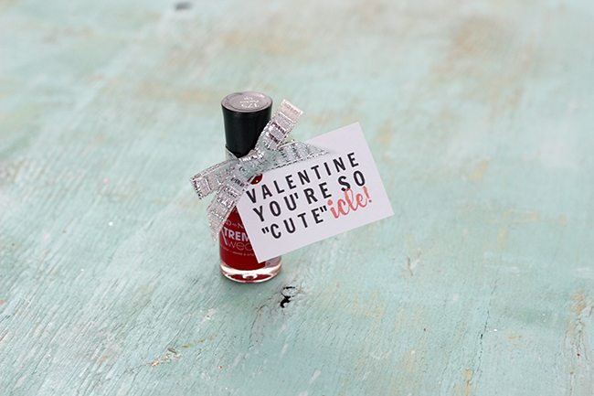 Diy Cute Icle Valentine S Day Nail Polish Gift Tag Cutefetti