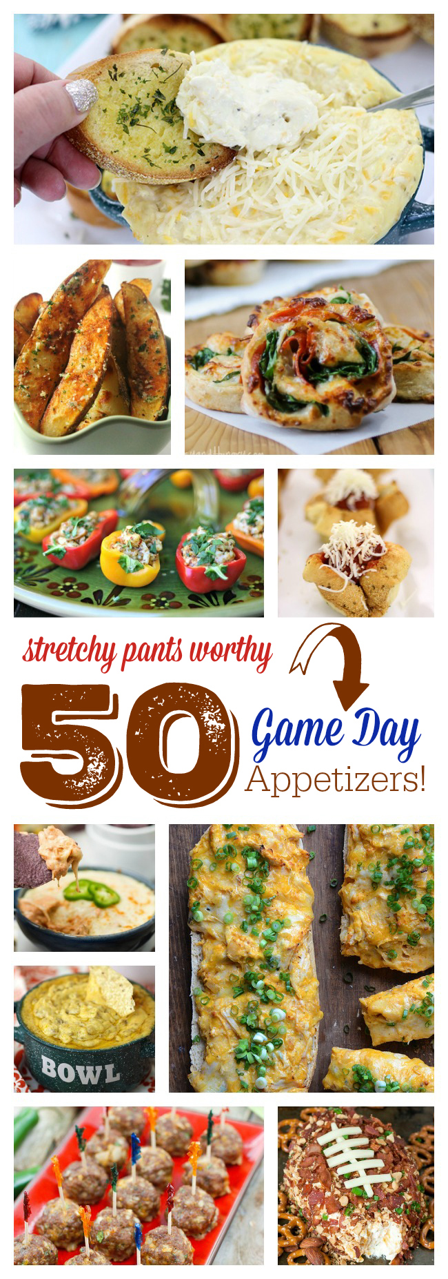 Win at your BIG Game Party Planning with these crazy easy appetizers. Yay for Football!