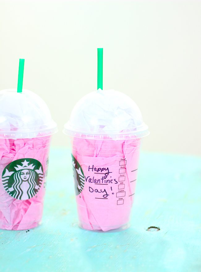 Starbucks Cup Gift Card Holder For Valentine S Day Cutefetti