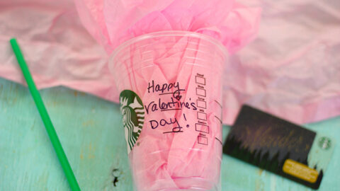 Starbucks Cup Gift Card Holder for Valentine's Day