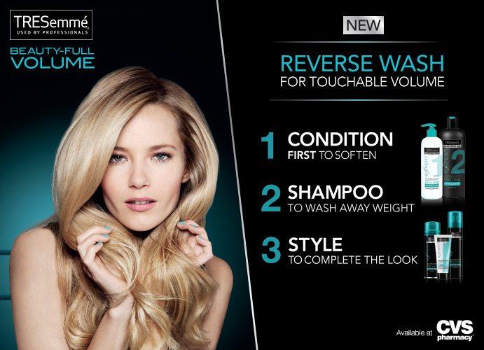 Reverse Hair Washing System