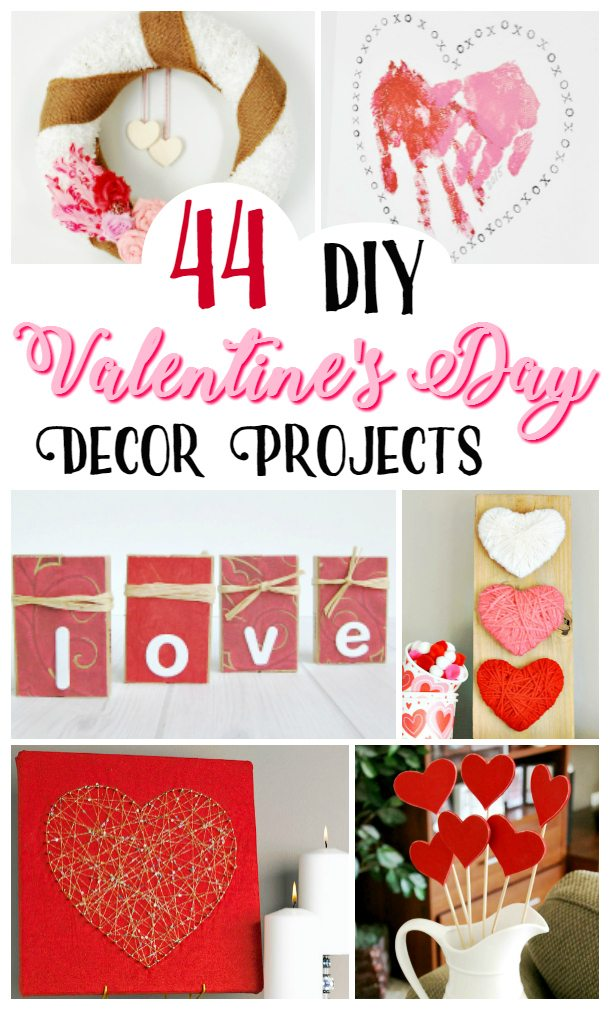 Totally heart Valentine's Day? Make your home festive with these 44 DIY Decorations.