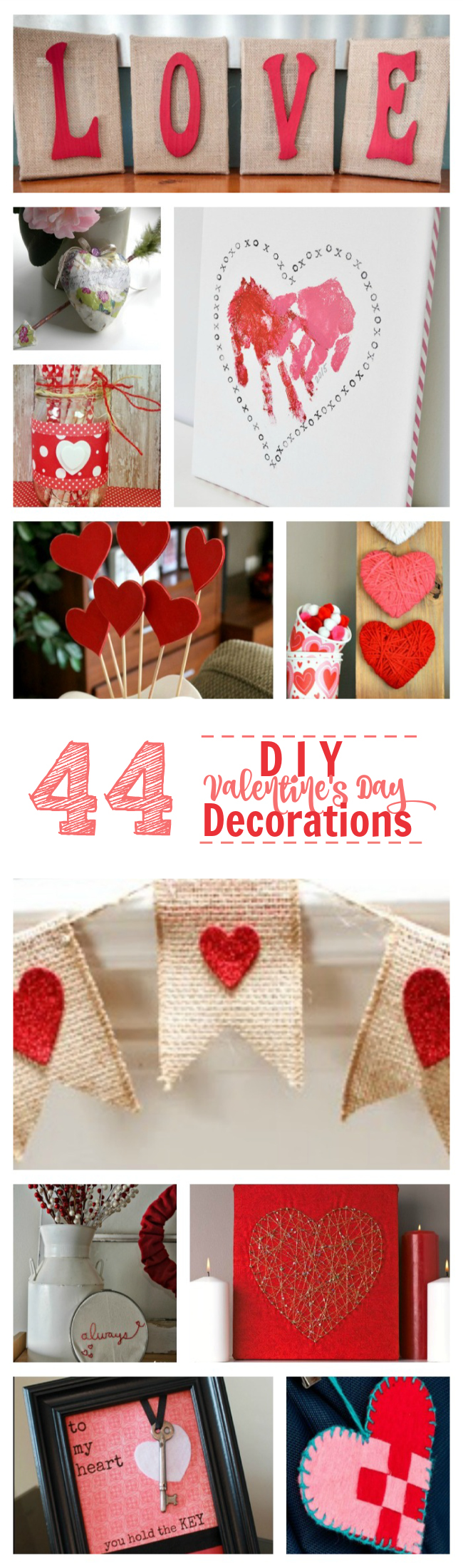 44 diy valentine 39 s day decor projects lifestyle blog for Valentine decorations to make at home