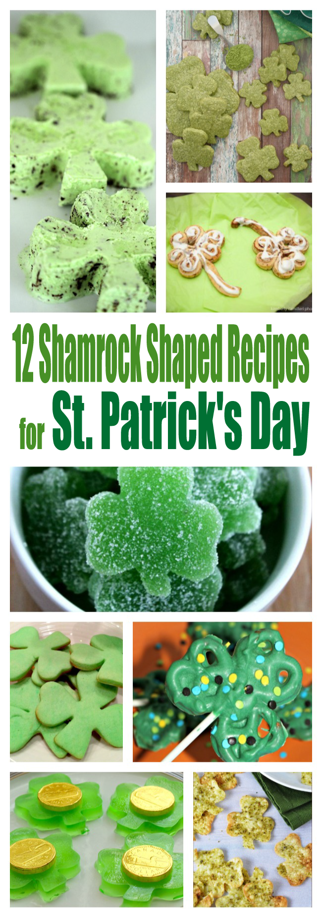 Okay now these are CUTE. Love these shamrock shaped ideas for St. Patrick's Day. Recipes galore.