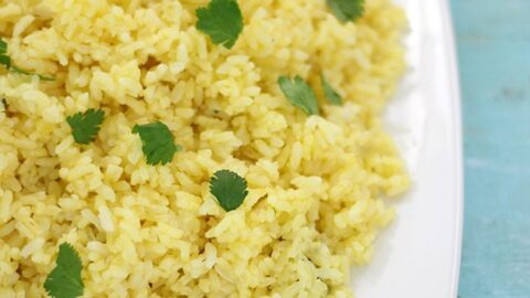 Simple Side Dish: Citrus Infused Rice with Cilantro