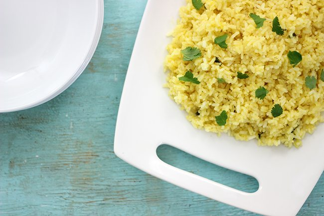 Trendy Spring side dish? Don't miss this Simple Side Dish: Citrus Infused Rice with Cilantro. It's SO easy.