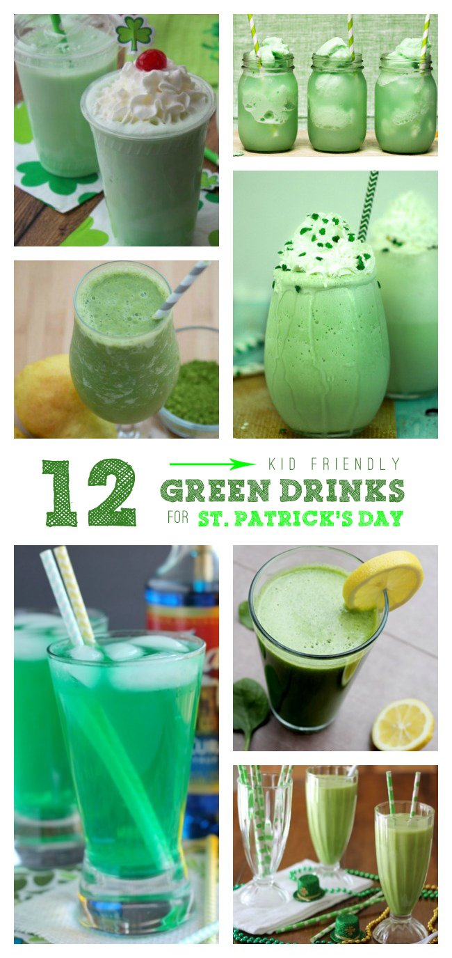 Celebrate St. Patrick's Day with these delish kid friendly green drinks!