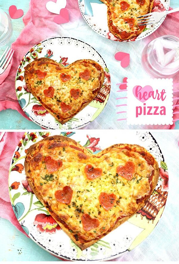 Make your sweetie smile with this super easy heart shaped pizza flatbread with the cutest heart shaped pepperoni.