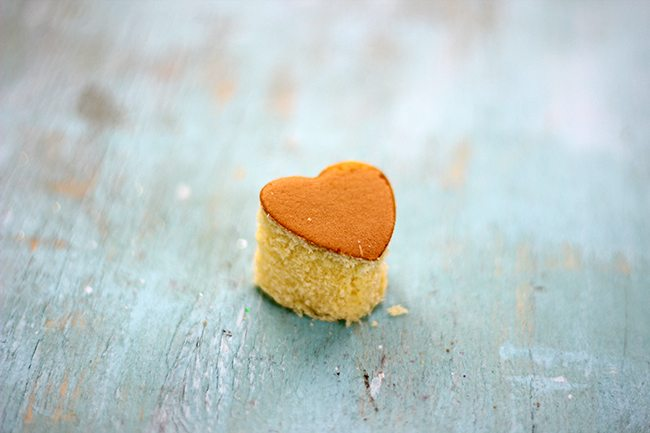 Mini Cake Hearts! Yes. These are way easier than you think. It comes together with a cookie cutter and store bought pound cake. Just my style.