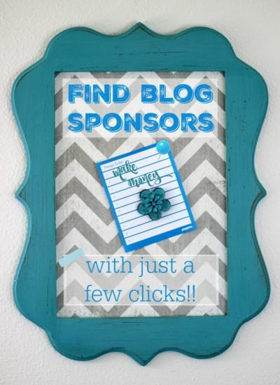Find Blog Sponsors with Just a Few Clicks