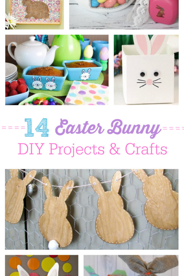 Super cute craft and diy project ideas for Easter. Who doesn't adore the Easter Bunny?