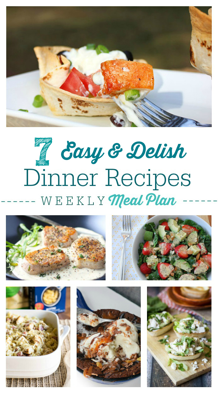 Weekly meal plan 6 easy delicious dinner recipes for Easy delicious dinner recipes for two