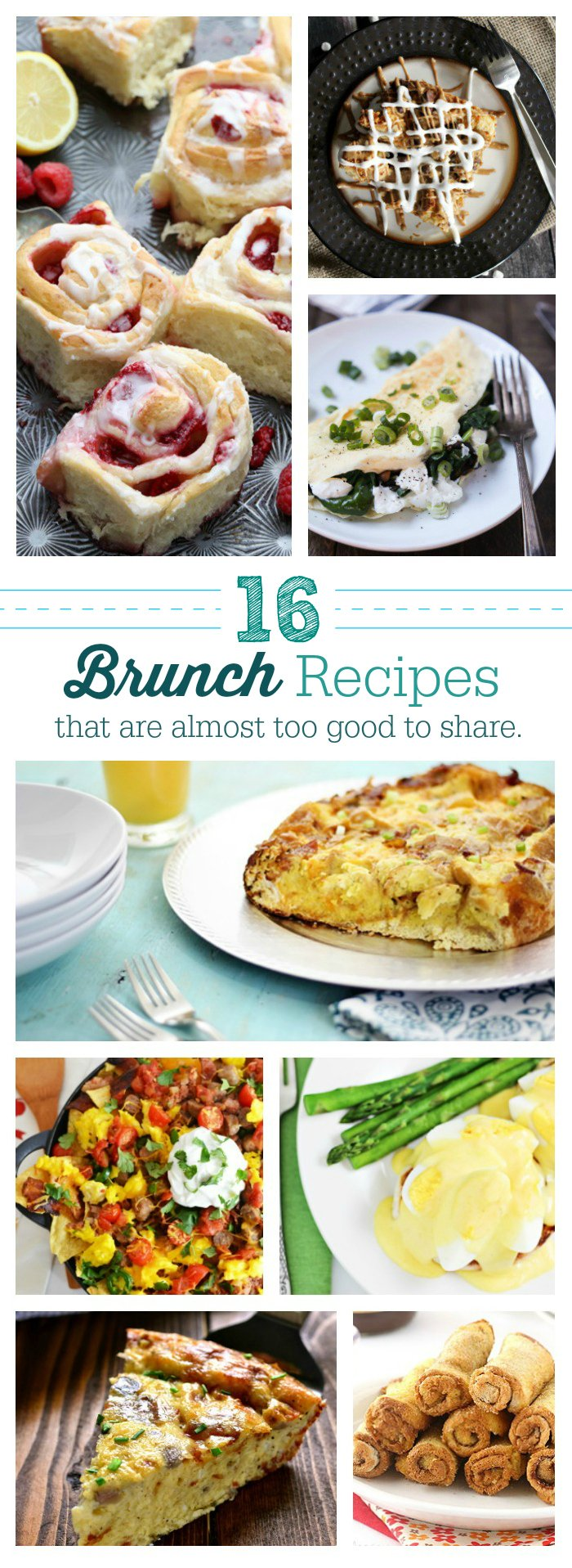 Brunch. You are the best. These recipes are exactly what's needed in life. Mother's day brunch, Easter brunch or brunch just because. These are so good you may not want to share... but you might just because you're sweet.