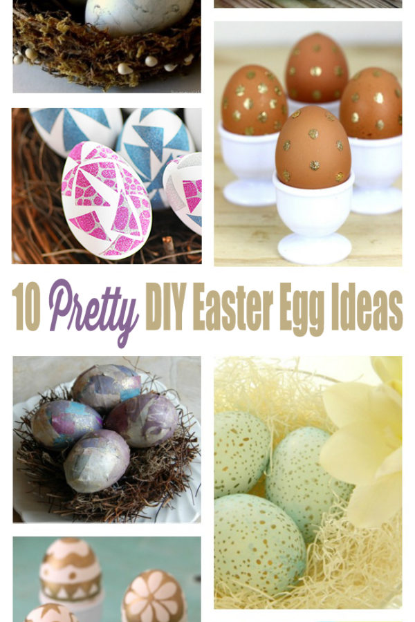 10 Pretty DIY Easter Egg Decorating Ideas