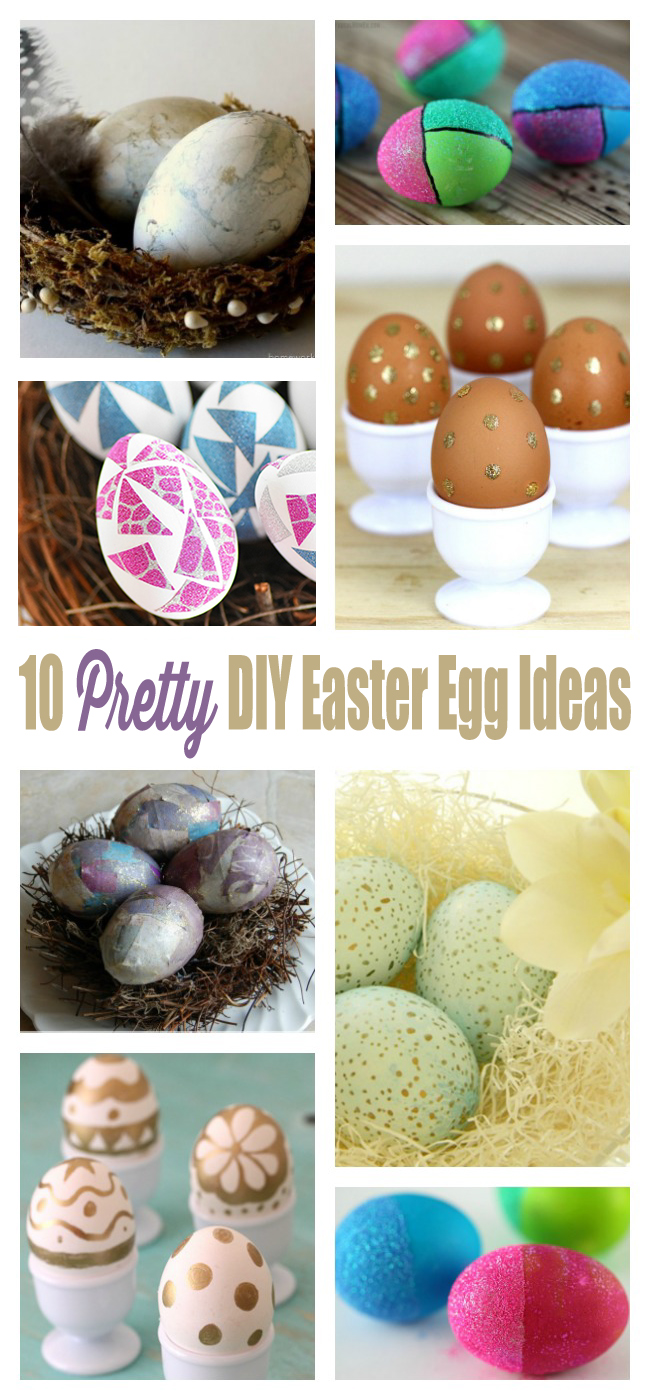 Make it a pretty Easter this year with these cool egg decorating ideas. From glitter to gold!