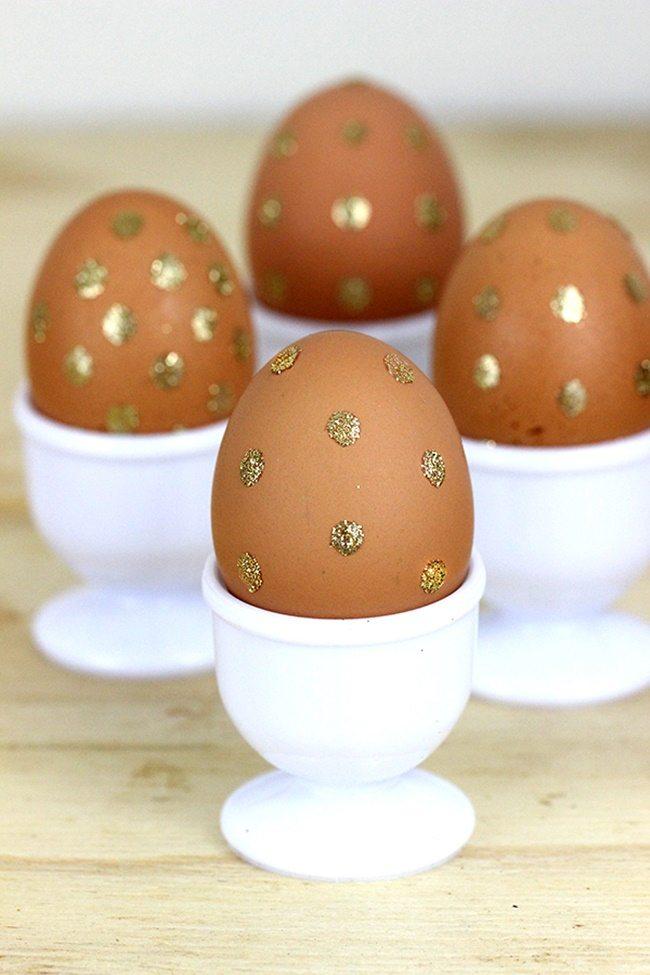gold-polka-dot-eggs