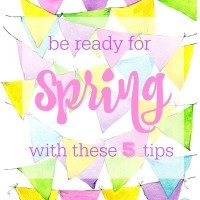 Be Ready for Spring with These 5 Tips