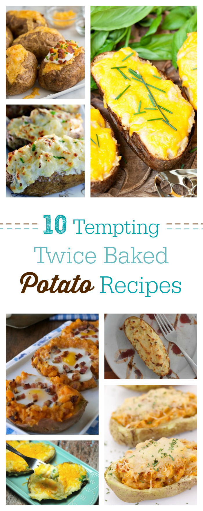 Perfect side dish ahead! Get these 10 totally tempting twice baked potato recipes. Yum.