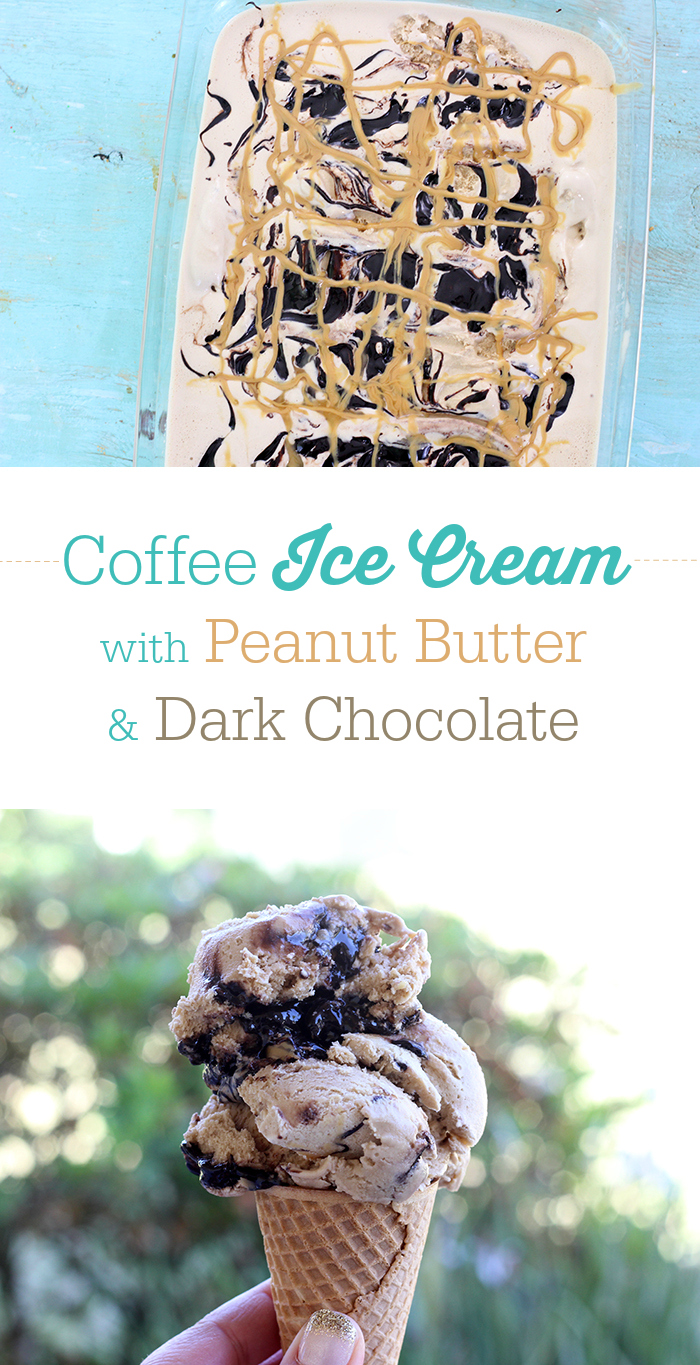 The ice cream flavor that the world has been missing. Coffee with peanut butter and dark chocolate. Drool. Ice cream recipe.