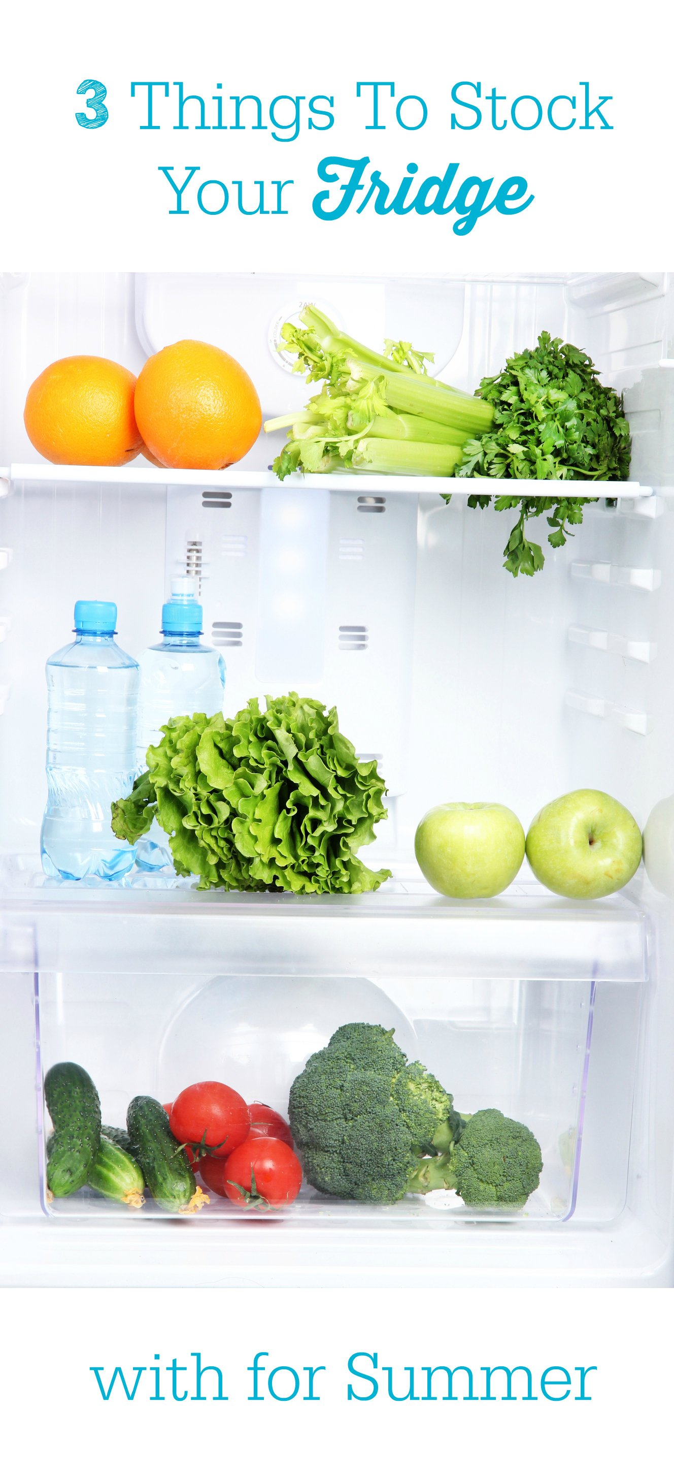 Are you busy? Check out these 3 things you should keep your fridge stocked up with this summer for easy and healthy options.