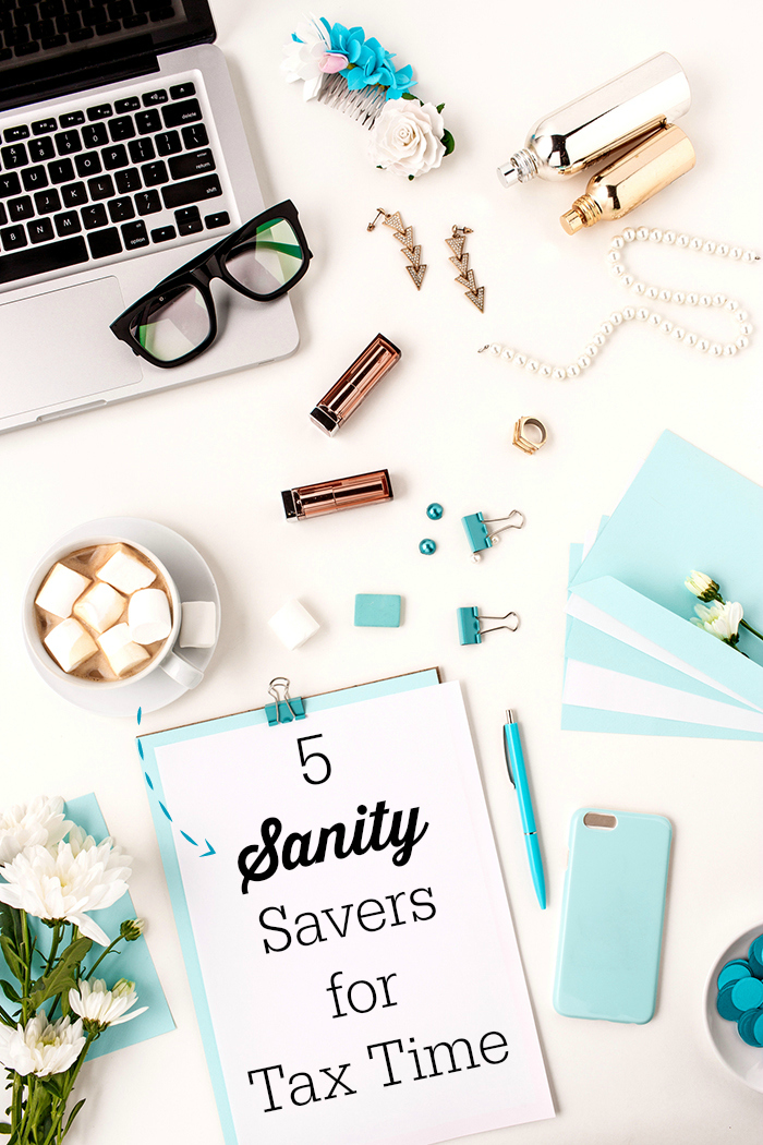 sanity savers during tax time. A playful post.
