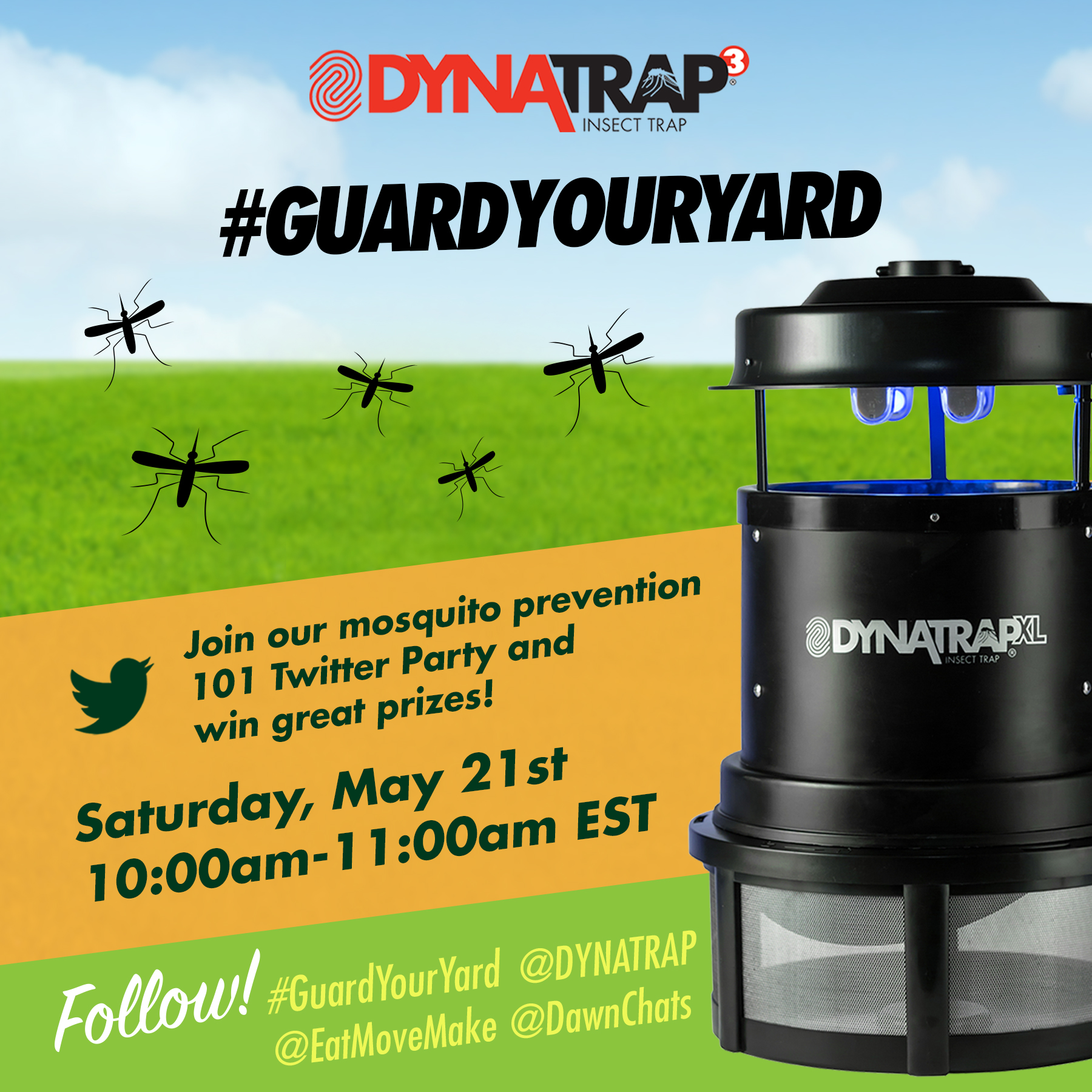 Join us for the #GuardYourYard Twitter Party on May 21, 2016