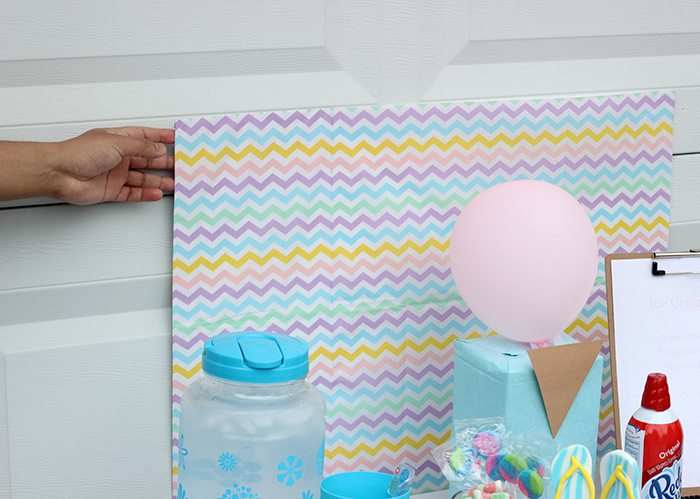 Cutest sweet ice cream party set up ideas. Get simple Dollar Store Budget Friendly Ideas to Make Your Party Pop. DIY Party. The tissue paper back drop is genius.