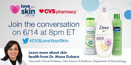 #CVSLoveYourSkin Twitter Party