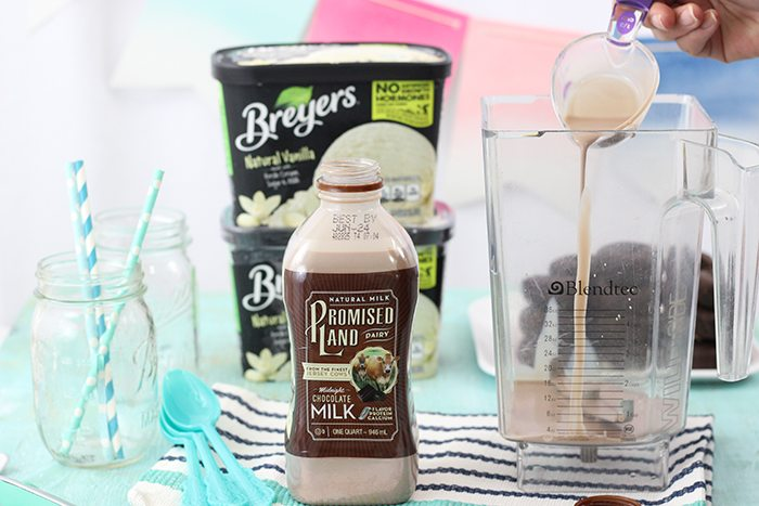 Chocolate Covered Donut Milkshake. Yes please! This is going to be a crowd-pleaser this summer.