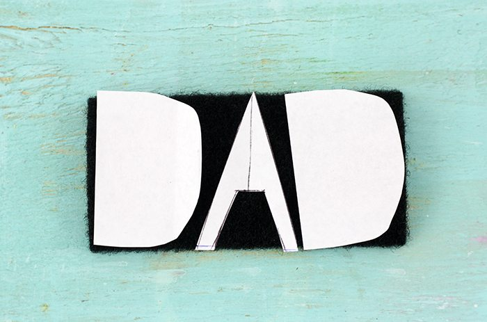 "Care it forward for Father's Day with this super cool DIY Velcro Gift Tag that reads ""DAD"" + get more perfect give ideas for him."