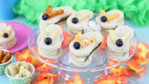 Cute Flip Flop Sandwiches to Kick off Summer