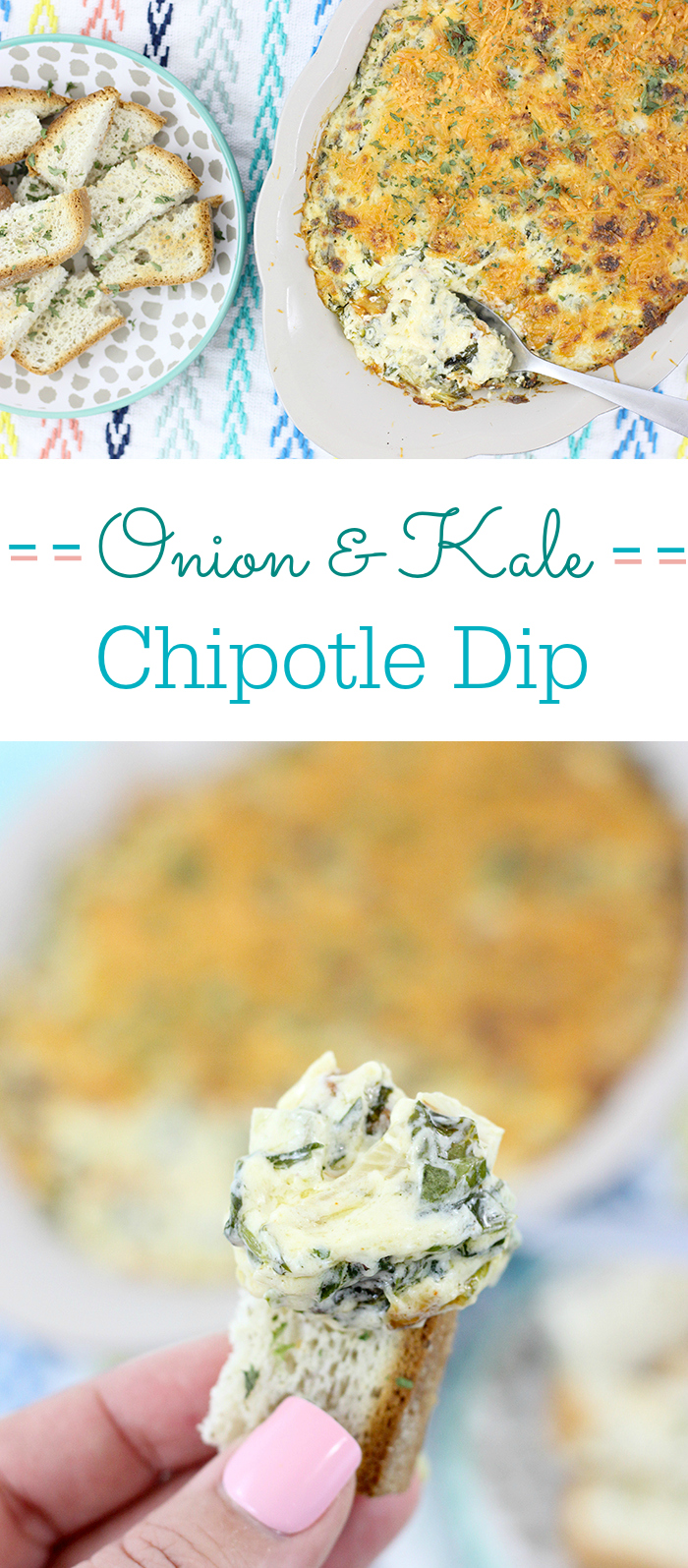 Smokey Onion and Kale Dip with a delicious secret ingredient. This dip recipe will knock your socks off.
