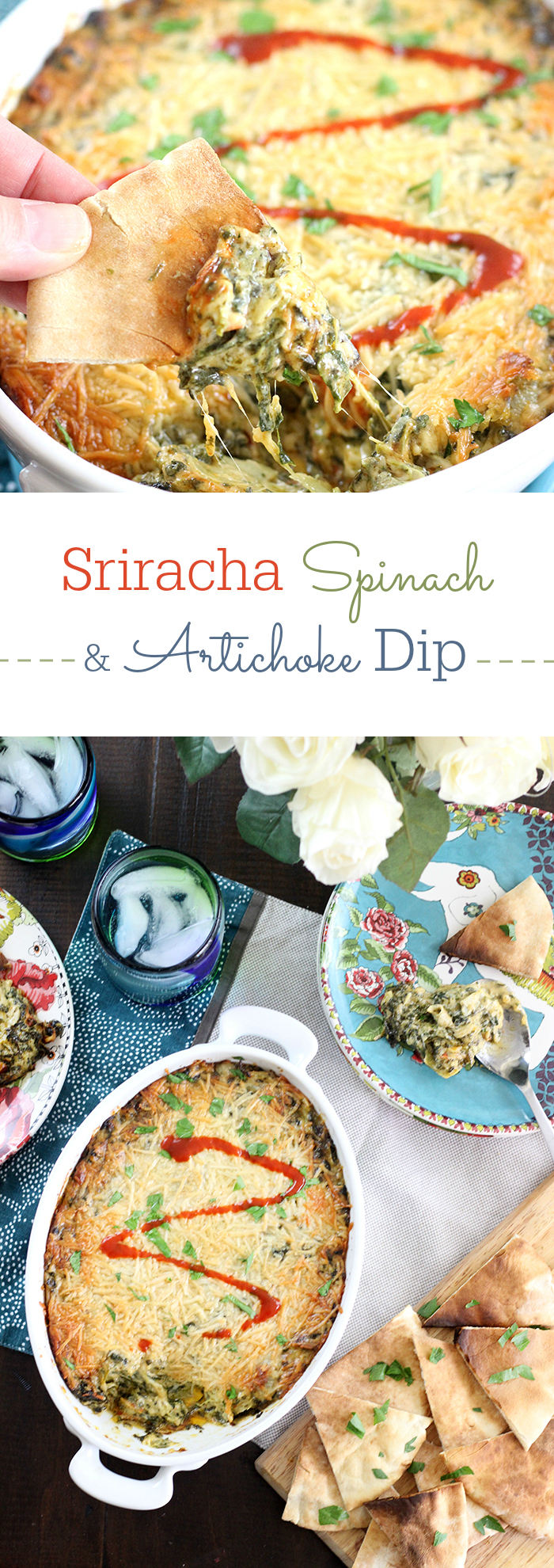 Creamy Spinach and Artichoke Dip with Parmesan Crust from your oven! Add bacon or sriracha for your own unique twist on this classic favorite.