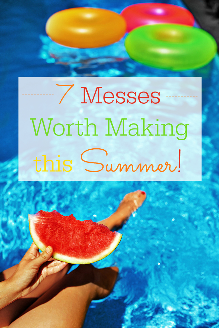 7 Messes Worth Making This Summer. Get down & dirty and have FUN. Add these ideas to your summer bucket list NOW... cuz sticky marshmallows.
