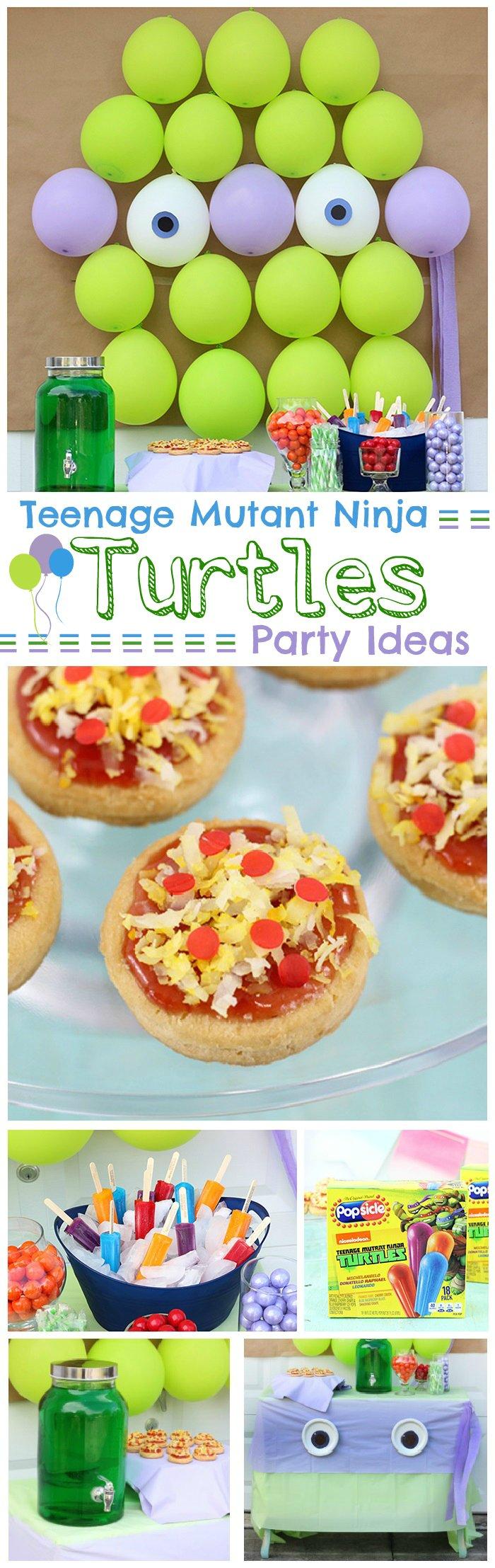 Teenage Mutant Ninja Turtles Party Ideas Galore TMNT Balloons Drinks Popsicles