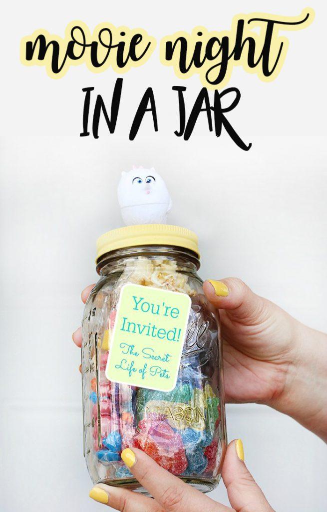 movie night jar