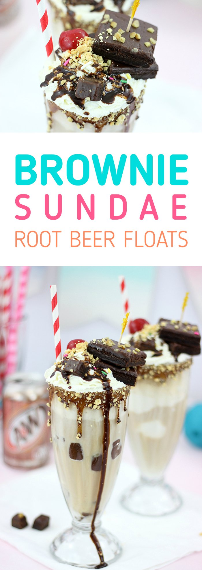 Brownie Sundae Root Beer Float. Basically two of the best desserts merged into one amazing creation. Yes Please