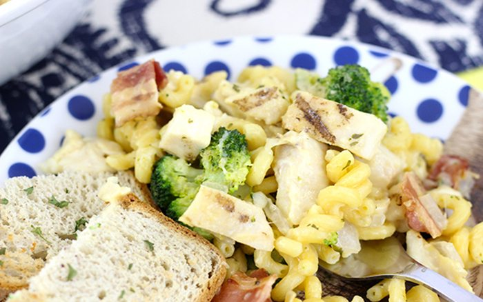 Smokey Broccoli & Cheese Mac that can be made in just 30 minutes start to finish. Epic weeknight dinner!