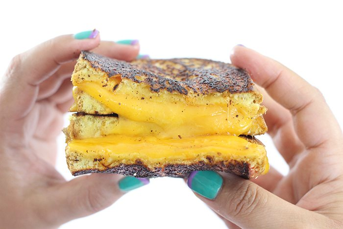 Grilled cheese sandwiches. This secret ingredient makes for the best grilled cheese sandwich in just 5 minutes.