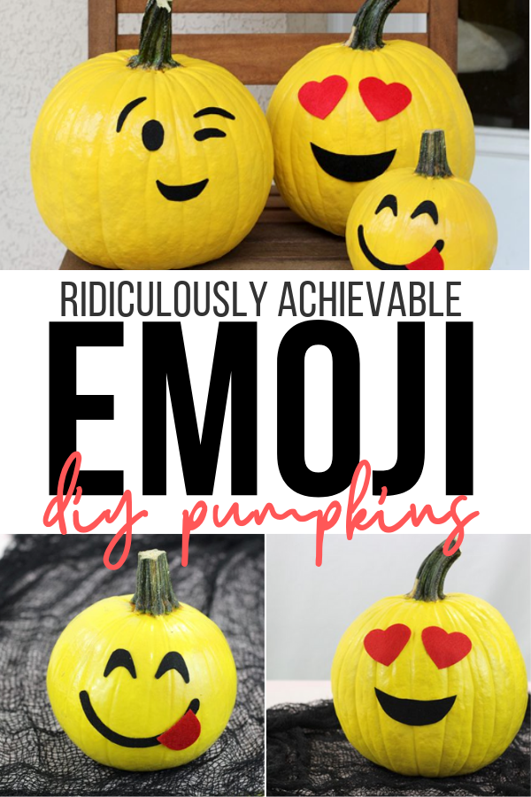 Ridiculously achievable emoji pumpkins that are no carve for Halloween.