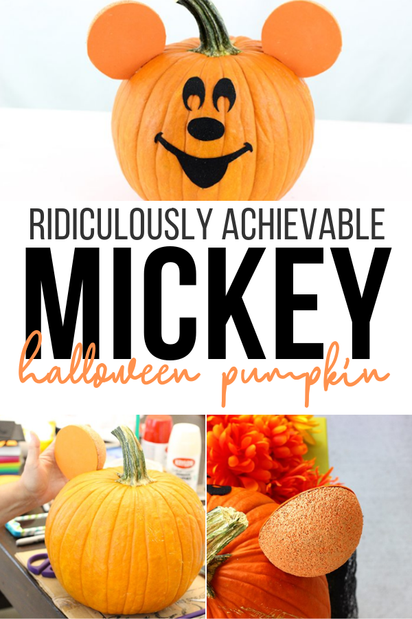Mickey mouse pumpkin for halloween