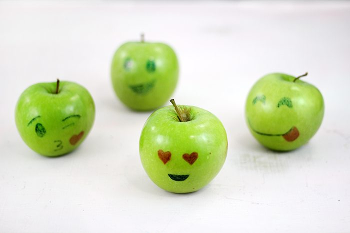 Emoji Apples and other fun ideas to get kids into better options.