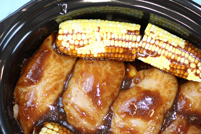 Crock-Pot® Sweet & Spicy BBQ Chicken Dinner. Toss all of your ingredients into your pot and dinner is ready in 5 hours!