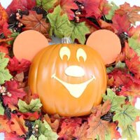 DIY Mickey Halloween Wreath Copy Cat