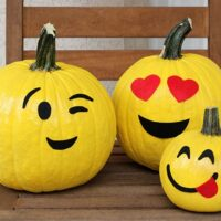 No Carve Emoji Pumpkins