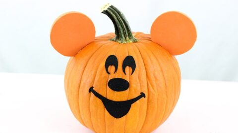 DIY Mickey Mouse Pumpkin
