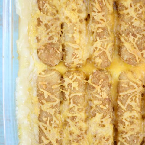 Fish Stick Casserole that's so easy and unusually delicious. Perfect comfort dinner.