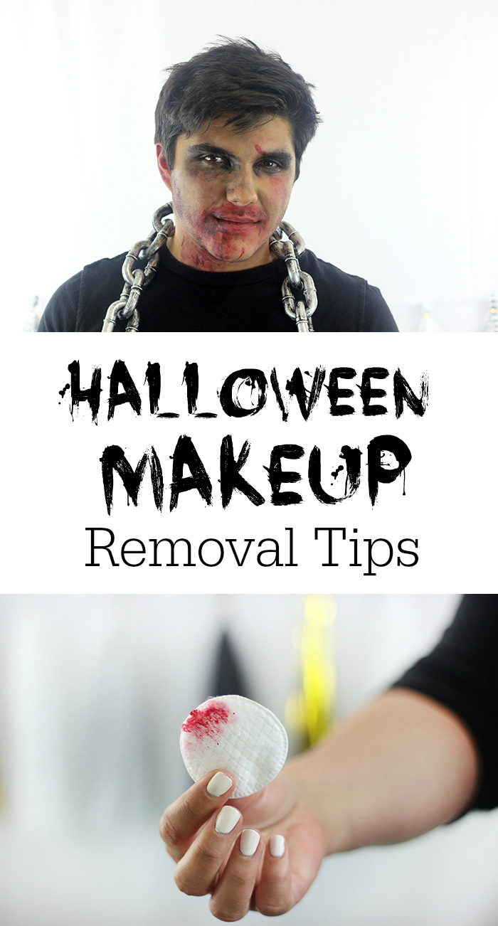 Halloween Makeup Removal.