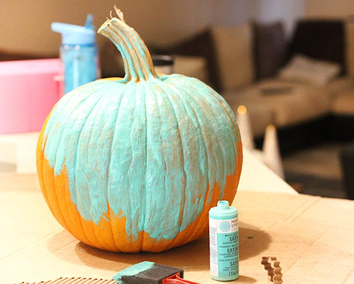 Bootiful Pumpkin DIY to make someone smile. Easy way to spread love this Halloween.