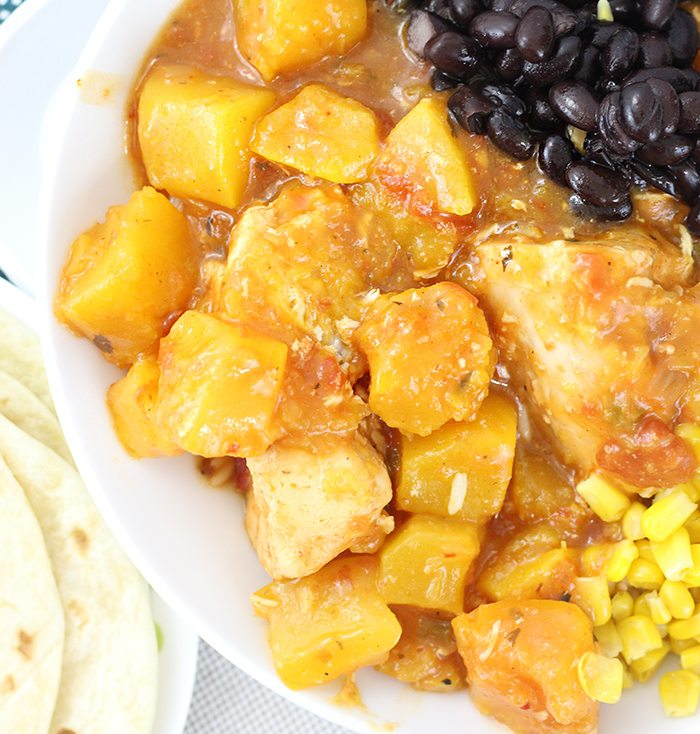 Crock-Pot® Slow Cooker Butternut Squash Salsa Chicken